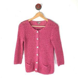 J. Jill XSP cardigan button front crochet